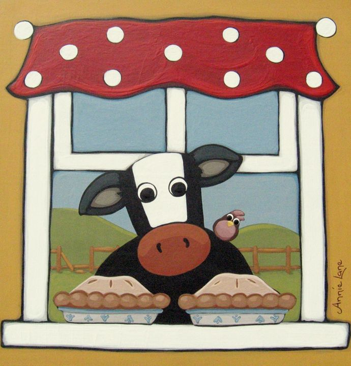 Cow Pies - Annie Lane Folk Art
