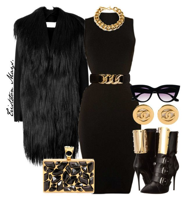"""Cookie Lyon."" by monroestyles ❤ liked on Polyvore featuring Maison Margiela, Forever 21, Giuseppe Zanotti, Ben-Amun, Tom Ford, Chanel, Retrò, empire, CookieLyon and EmpireFashion"