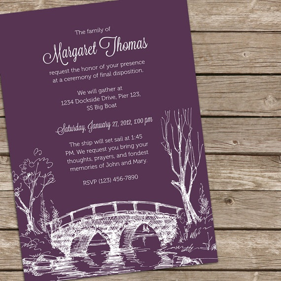 12 best images about Funeral Invitation Design – Invitation for Funeral
