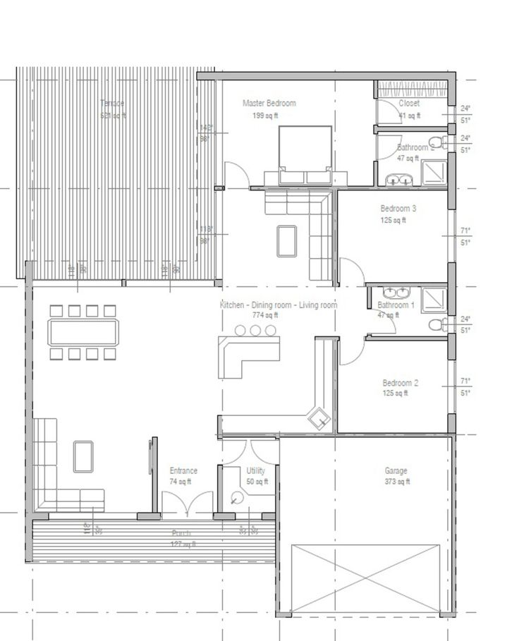 House Plan For 15 Feet By 50 Feet Plot Plot Size 83: 50 Foot Wide House Plans