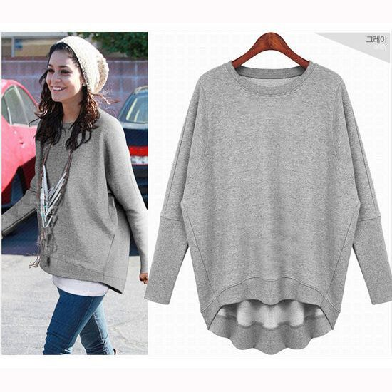 2014 Spring Autumn New Fashion Casual Loose Sweatshirt Female Batwing Sleeve Outerwear Tops Plus Size Thin Hoodies Free Shipping