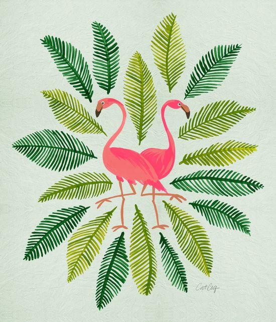 Flamingos Art Print                                                                                                                                                                                 Más