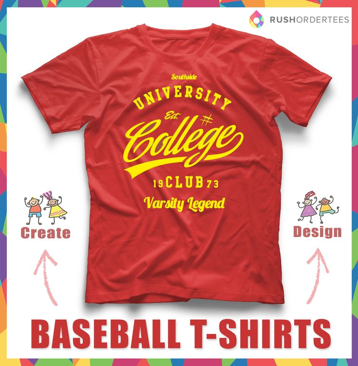 College Baseball Custom T Shirt Design | Change The Text For Your School!  Design