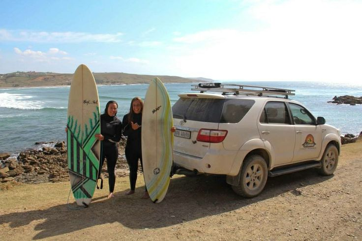 Surfer girls! Taking surf lessons with SA Surfari in South Africa.