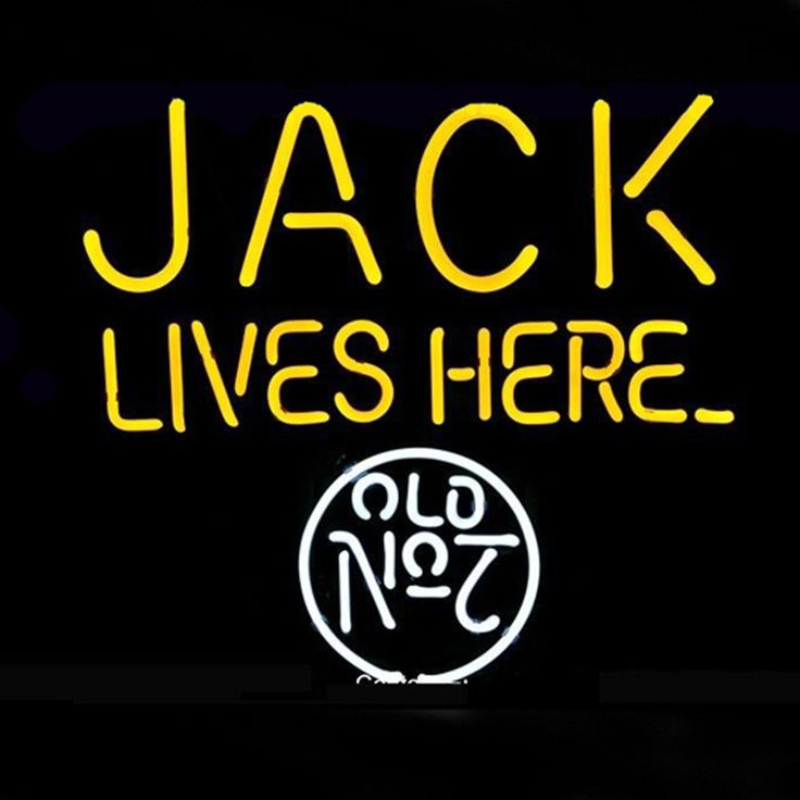 Neon Light Shop In Philippines: Jack Lives Here No.7 Logo Pub Store Beer Bar Real Neon
