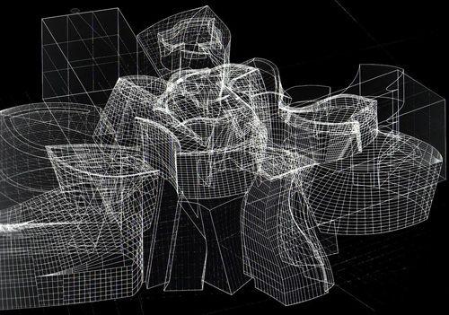 Frank O. Gehry (immagine al computer del Museo Guggenheim di Bilbao)