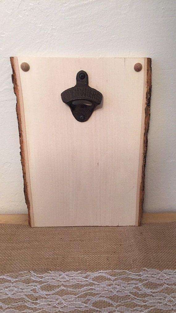 Blank Magnetic Wood Slab Bottle Opener Wall Mounted Bottle Opener Wall Wood Slab Bottle Opener
