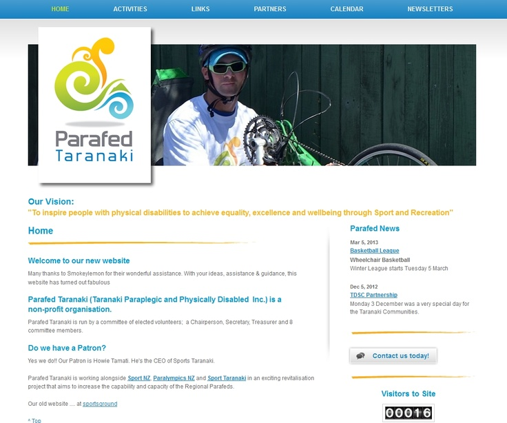 """Parafed Taranaki (Taranaki Paraplegic and Physically Disabled  Inc.) is a non-profit organisation.    Our Vision:    """"To inspire people with physical disabilities to achieve equality, excellence and wellbeing through Sport and Recreation"""""""