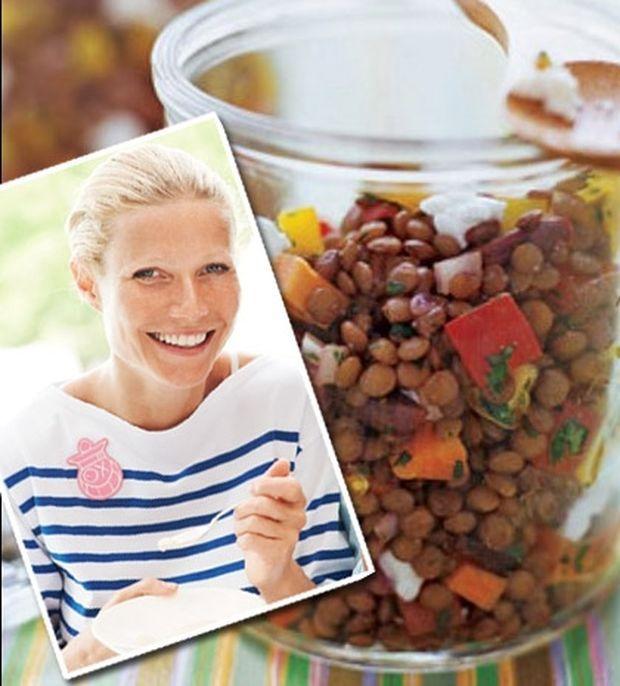 Σαλάτα με φακές και ντοματάκια, από τη Gwyneth Paltrow