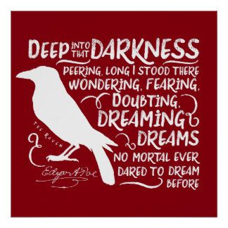 Raven (Deep Into That Darkness) by Edgar Allan Poe Poster