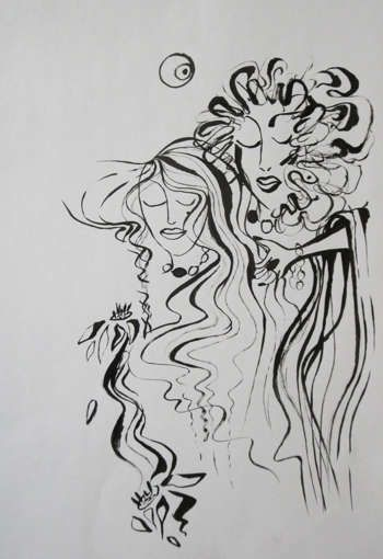 """""""Parting"""" #Creative #Art in #sketching @Touchtalent http://bit.ly/Touchtalent-p"""