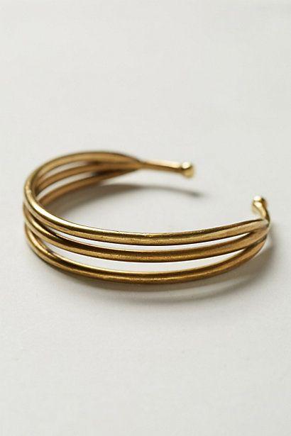 Cuffs Bracelets, Thrice Slices, Slices Cuffs, Gold Bracelets, Women Accessories, Anthropologie Com, Jewelry, Gold Band, Cuff Bracelets