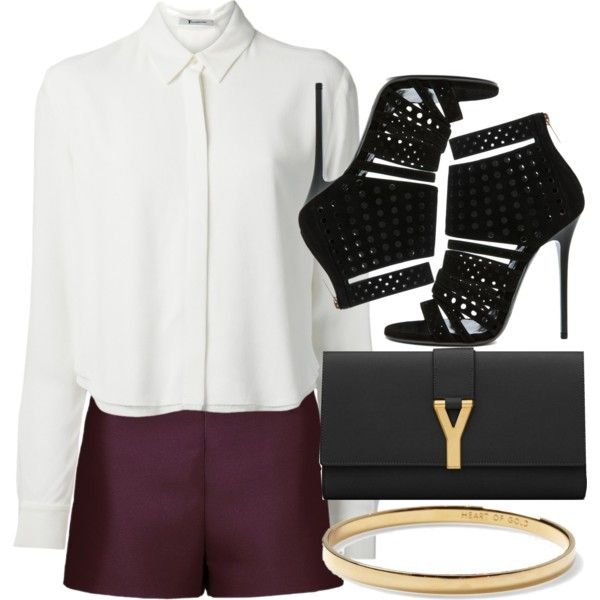 Sem título #361 by oh-its-anna on Polyvore featuring moda, T By Alexander Wang, Valentino, Jimmy Choo, Yves Saint Laurent and Kate Spade