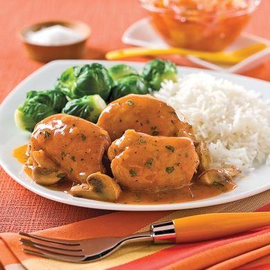 Hauts de cuisses, sauce chasseur aux champignons - Recettes - Cuisine et nutrition - Pratico Pratiques