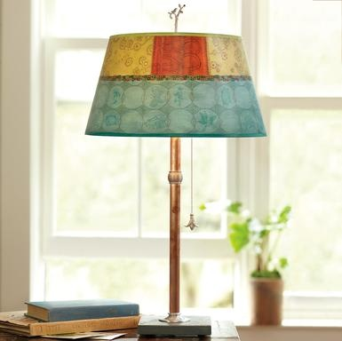 17 Best images about Handmade Table Lamps on Pinterest | Tile ...:PARADISE POOL TABLE LAMP -- Inspired by botanical illustrations and  mid-century textiles, Janna Ugone's giclée-printed shade is signed and  hallmarked with a ...,Lighting