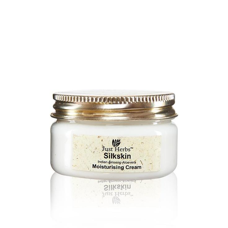 Buy Just Herbs Silkskin Indian Ginseng-Aloevera Moisturising Cream Online in India @ UrbanTouch.com
