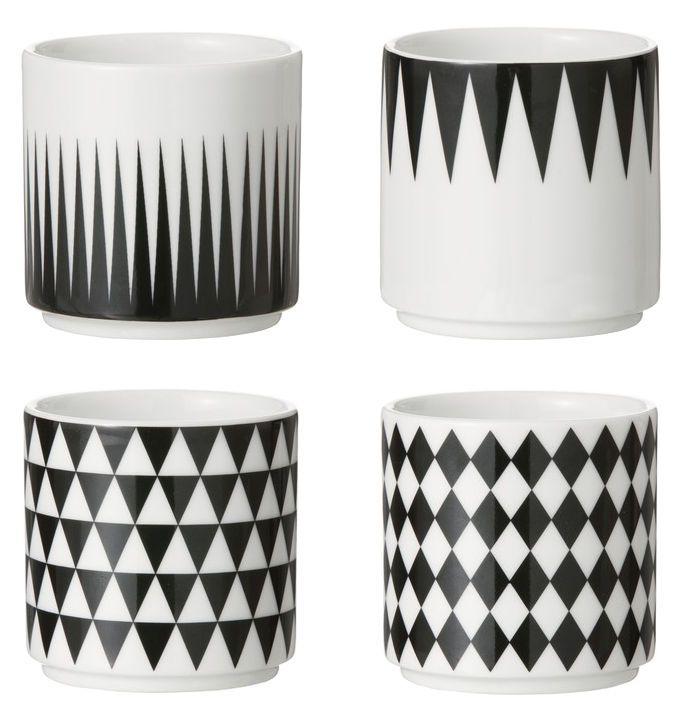 Espressotasse / 4er-Set, Weiß / schwarz von Ferm Living finden Sie bei Made In Design, Ihrem Online Shop für Designermöbel, Leuchten und Dekoration.