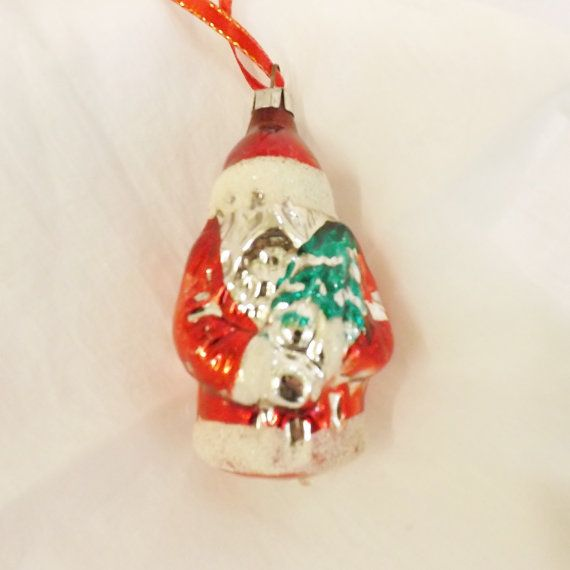 17 Best Images About Vintage Santa Claus Ornaments On: vintage glass christmas tree ornaments