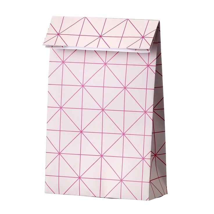 paper bag from Bloomingville. Great neon pink print - love it!  www.bloomingville.com