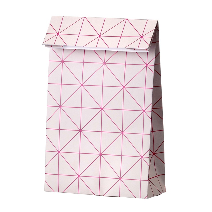 paper bag from Bloomingville. Great neon pink print - love it!  www.bloomingville.com