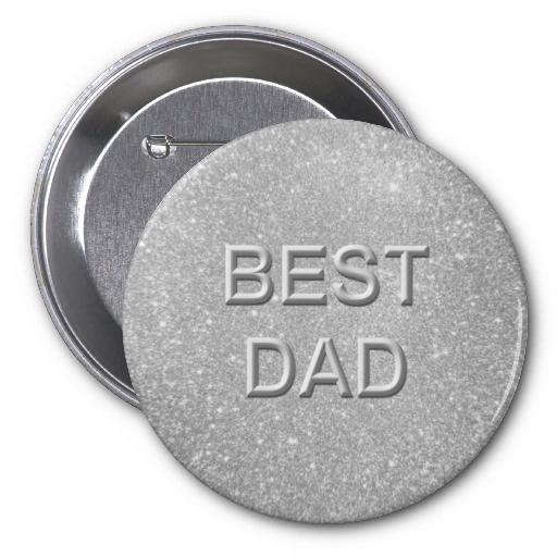 Best Dad Glitter Buttons by elenaind