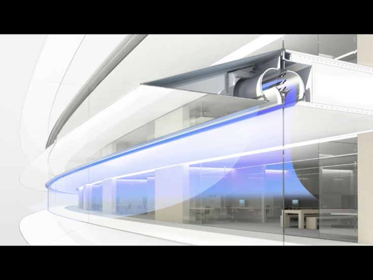 Apple campus 2 natural ventilation system foster for Office ventilation design