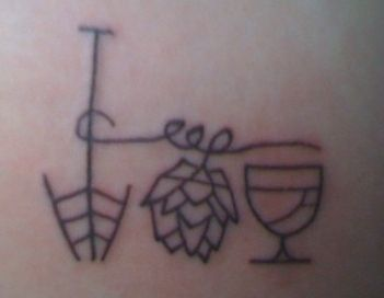Mash Paddle, hops, and #beer #tattoo