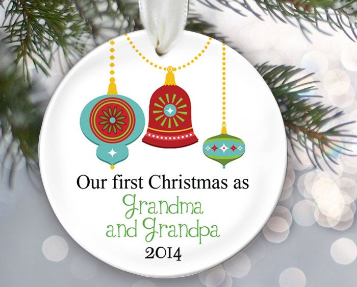 Personalized Christmas Ornament For New Grandparents Our First Christmas as Grandma /& Grandpa Ornament Ornament Nana And Papa Gift