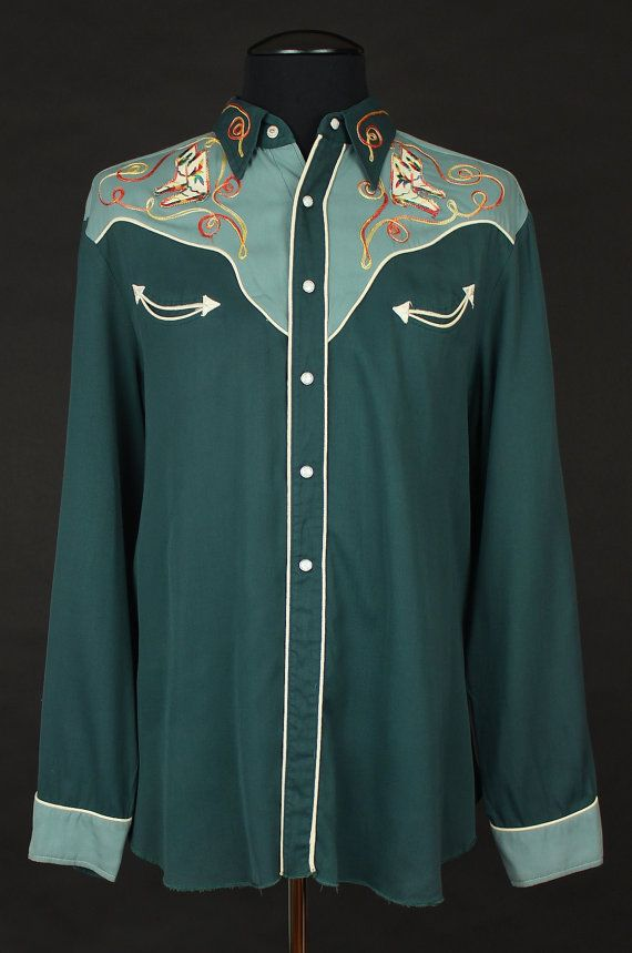 FREE SHIPPING H Bar C Embroidered Western Shirt L99GctThhu