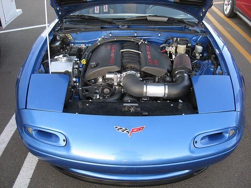 Corvette Ls2 Engine Stuffed In A 1st Generation Miata