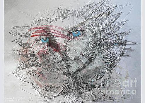 Blue Eyes Butterfly Fairy by Alice Iordache Original Graphic by Iordache Alice