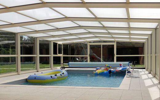 Abri haut de piscine télescopique #piscine #abri #haut