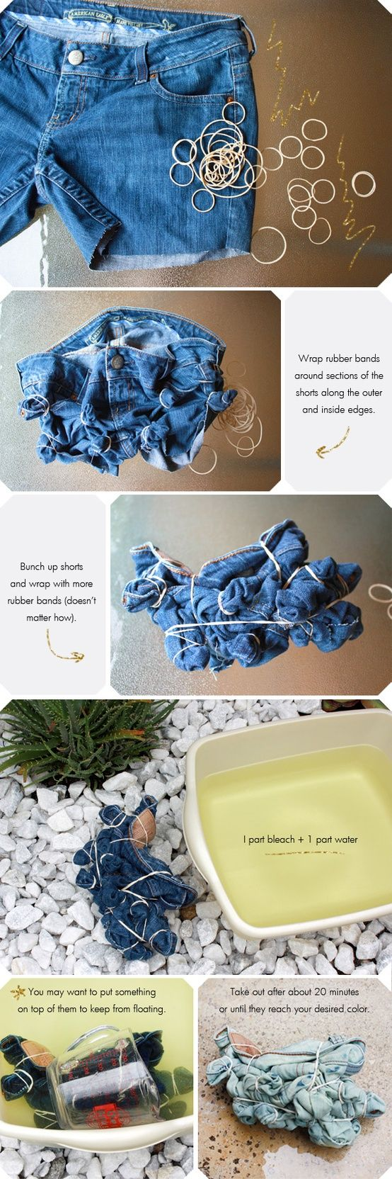 How to bleach your shorts!