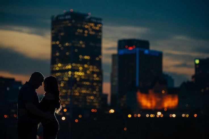 Downtown Edmonton at night - E-session