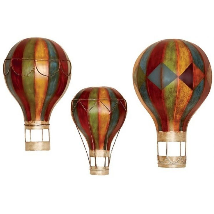Wall Decor Home Accents Jeweled Hot Air Balloon