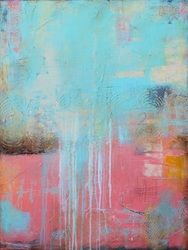 love abstract artist pink blue abstraction painting artiste peintre couleur bleu rose