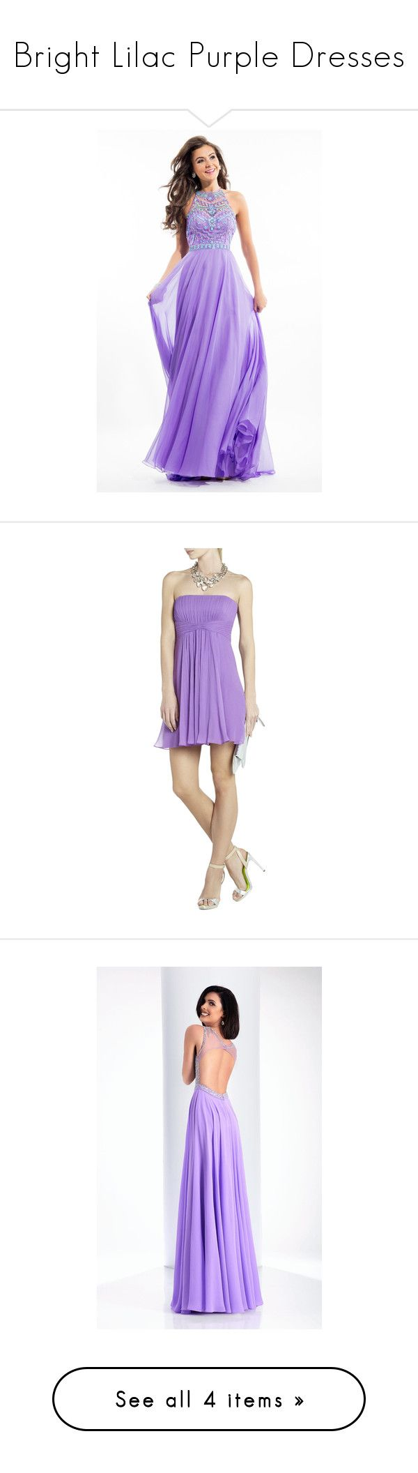 """""""Bright Lilac Purple Dresses"""" by tegan-b-riley on Polyvore featuring dresses, gowns, prom, purple, formal dresses, lilac, long purple dress, formal evening dresses, purple formal gowns and long evening gowns"""