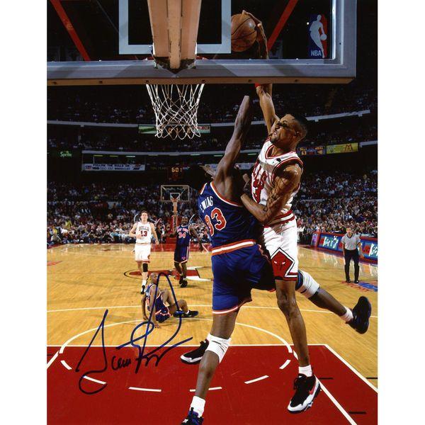 """Scottie Pippen Chicago Bulls Fanatics Authentic Autographed 8"""" x 10"""" Dunk On Patrick Ewing Photograph - $149.99"""