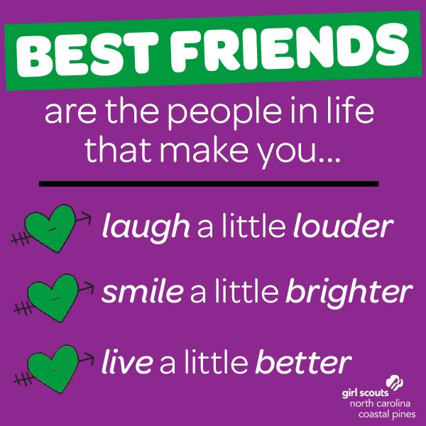 Happy National Best Friend Day, Girl Scouts! #GirlScoutBestFriends #GirlScoutSisters