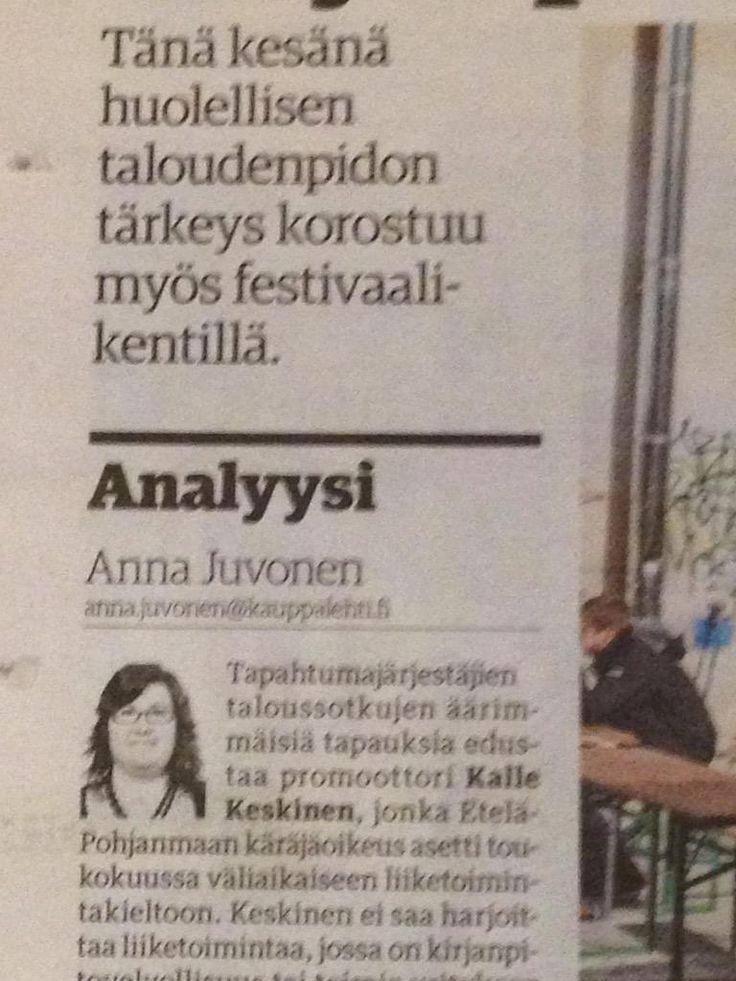 Murheellisia, alalle negatiivisia uutisia @KauppalehtiFi, lukujen kautta johdettava kaikkea #business #tapahtumat