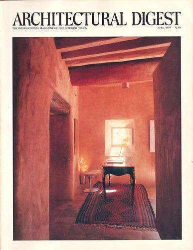 Architectural Digest Magazine Lillian Gish Barrymore April 1979