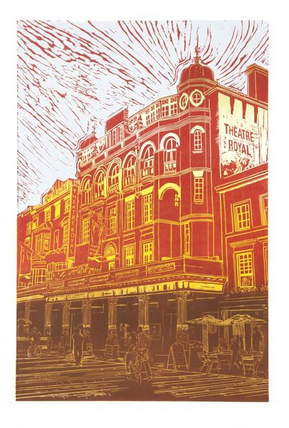 Theatre Royal Brighton - Jackie Field. Can this be done on a Gelli plate?