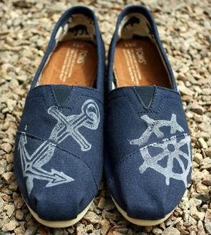 Printed Nautical Toms Shoes