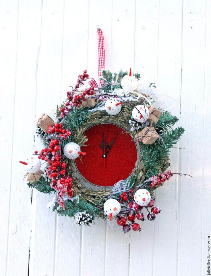 Купить Праздничные часы Bouli-Bouli - ярко-красный, год петуха 2017, часы, подарок, рождество