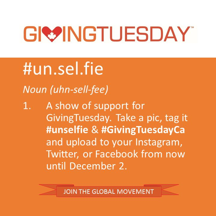 Calling all Canadians: Ideas for Participating in GivingTuesday!  Some great ideas! #unselfie #GivingTuesdayCA