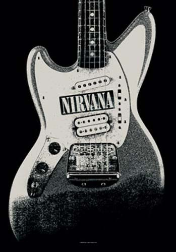 See  Nirvana Guitar Fabric Poster at Bargains Delivered  http://www.bargainsdelivered.com/products/nirvana-guitar-fabric-poster