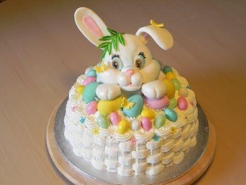 Come fare un coniglietto in pasta di zucchero/ How to make a bunny in fondant tutorial - YouTube