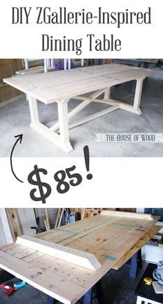 How To Build A Farmhouse Table. Rustic FurnitureKitchen ...
