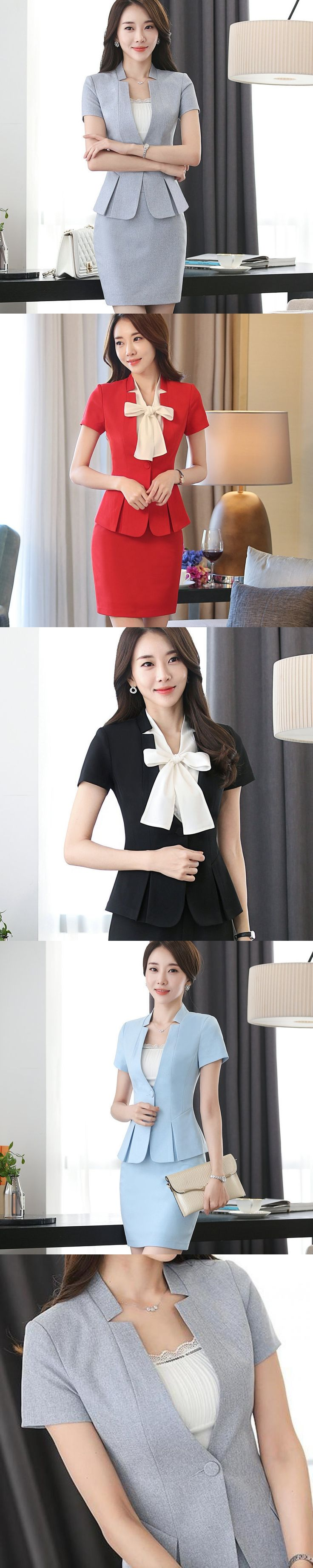 2017 New Summer Slim Suit Women Office Ladies Suit Set High Quality Plus Size Ol Work Wear Business Elegant Female Pleated Top
