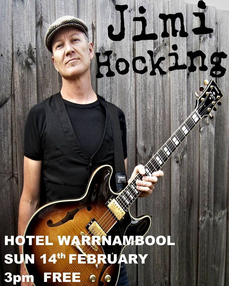 "Jimi Hocking a.k.a. Jimi the human is back in the 'Bool for his annual Sunday Session on Sunday February 14th 2016 3.00pm at the Hotel Warrnambool. Jimis squeezing this show in before he heads out on a national tour again with The Screaming Jets - The Band's Own Page to promote their long-awaited studio album CHROME. Support for the ""Jets"" live act has been gaining momentum since they reformed and started gigging again in 2014 so theyre hoping the new album will tap in to this rekindled…"